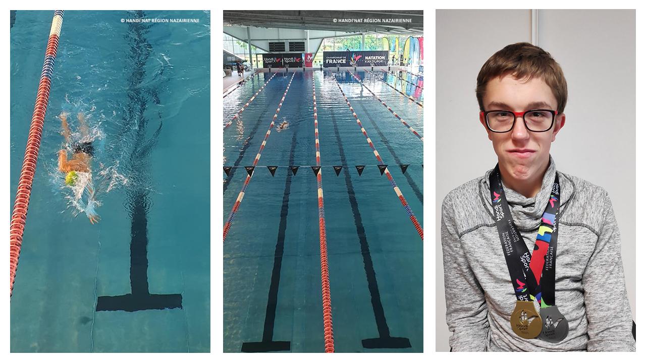 Ethan champion de natation handisport