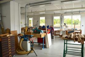 Atelier menuiserie de l'IME SESSAD La Fleuriaye à Carquefou