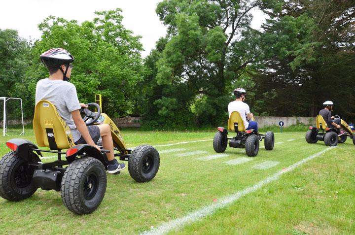 Circuit de kart à pédale à l'IME Le Val de Sèvre à Vertou