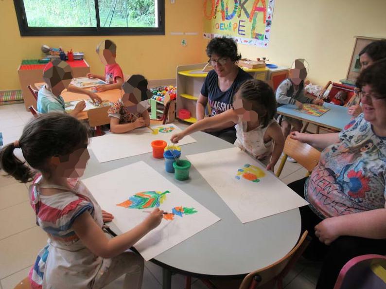 Projet intergénérationnelle à Vay entre les usagers et les écoliers
