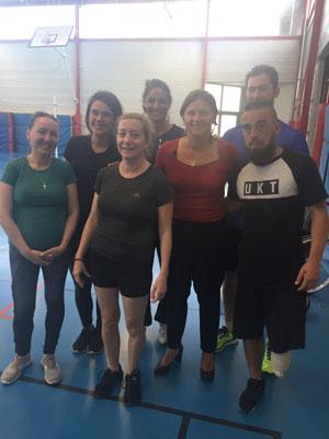 activité physique adaptée : Les patients du centre ont rencontré la Ministre des Sports, Roxana Maracineanu.