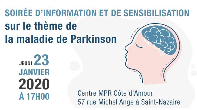Jeudi 23 janvier : soirée de sensibilisation à la maladie de Parkinson à Saint-Nazaire