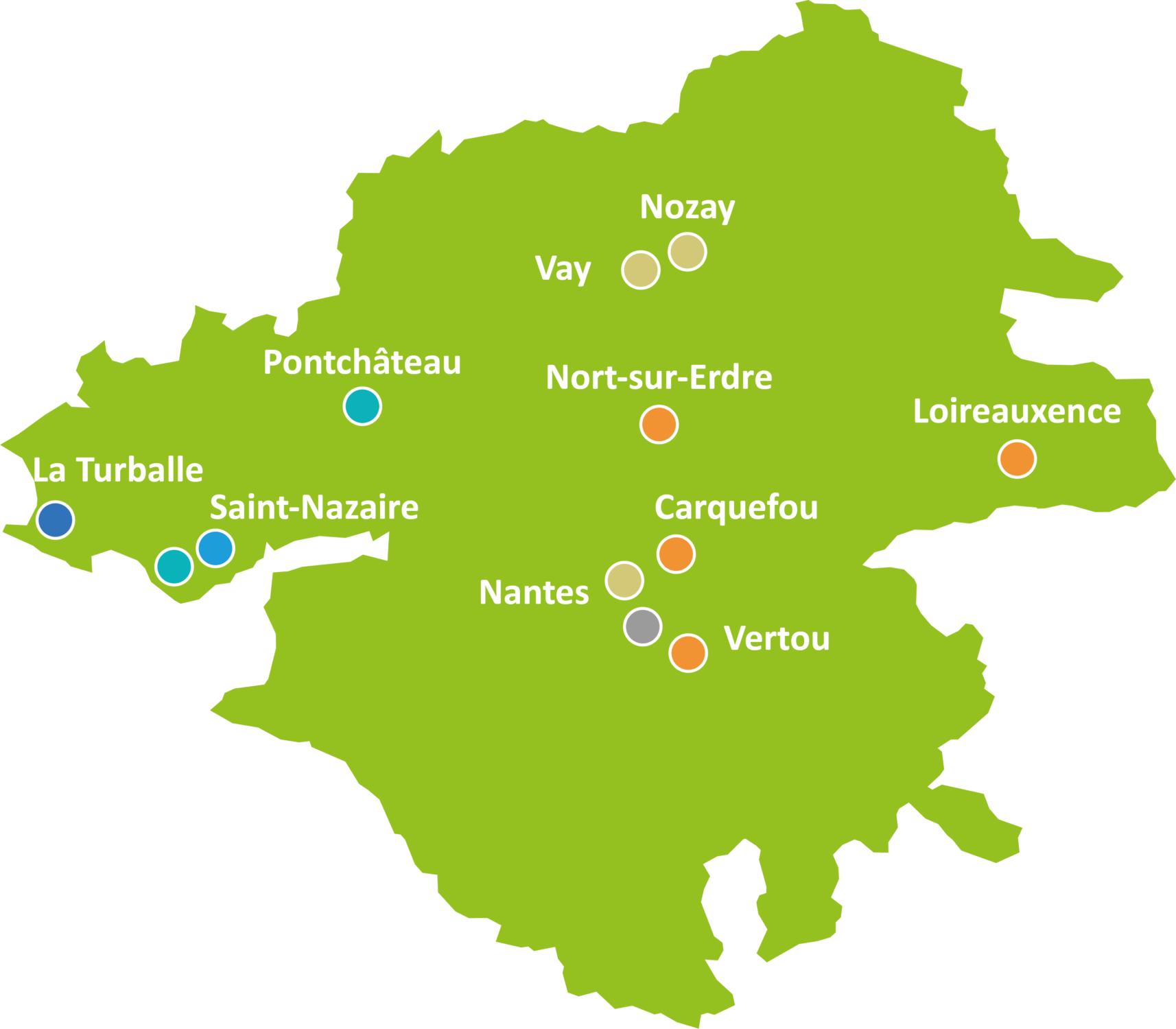 Présence des Oeuvres de Pen-Bron en Loire-Atlantique