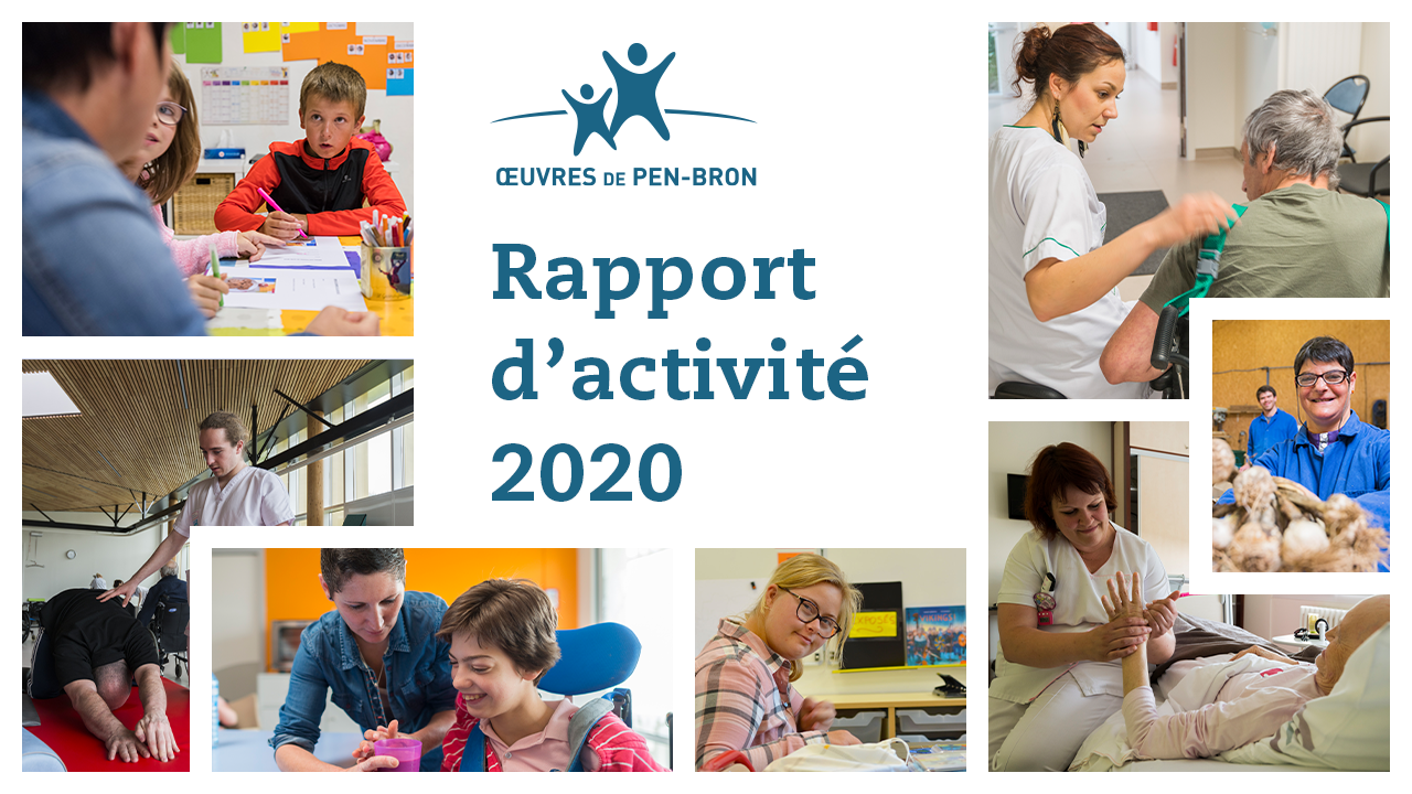 Photo du Rapport d'activité 2020 des Oeuvres de Pen-Bron
